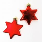 Stern zum Hängen rot / weinrot (6St)