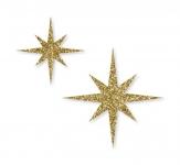 Weihnachten - Deko-Sticker Sterne gold 72Stk