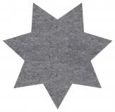 Tischset Stern aus Filz grau 40 cm (2St)
