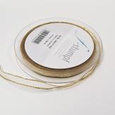 Band creme-gold mit Lurexkante 10mm25m