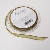 Weihnachtsband Lurexkante grün-gold 10mm25m