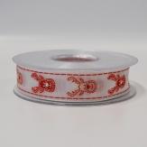 Weihnachtsband Elche rot 25mm20m