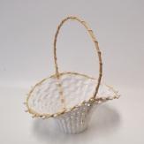 Streukörbchen Blumenmädchen weiß 18x24cm  h30cm 1Stk
