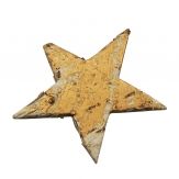 Birkensterne mit Gold 65mm 30Stk