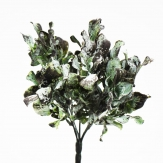 Blattbusch grün frosted 25cm 1Stk