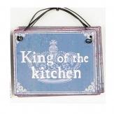 Metallschild King, zum Hängen blau10x8cm 1Stk
