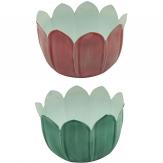 Blütentopf in zwei Farben 10x7cm 1Stk