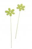 Blumenstecker Blüten hellgrün 8cm 24Stk