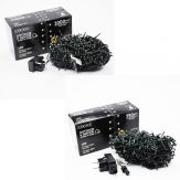 LED compact lights Lichterkette grünes Kabel in zwei Größen indoor&outdoor
