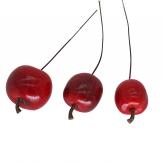 Deko Äpfel am Draht rot 3cm 24Stk