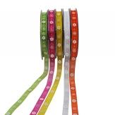 Blüten Dekoband in fünf Farben 10mm20m