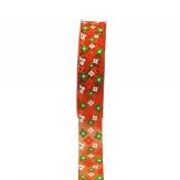 Blüten Dekoband orange 25mm20m