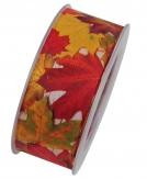 Fotodruckband Herbstband Bunte Blätter 40mm15m