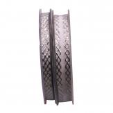Dekoband Gloria grau-silber in zwei Größen 1Stk
