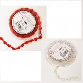 Herz Dekoband weiße oder rote Herzen 10mm4,6m