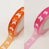 Schmetterling Dekoband in verschiedenen Farben 25mm20m
