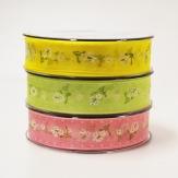 Blüten Dekoband Sommerflair in drei Farben 25mm20m