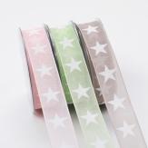 Dekoband Sterne in verschiedenen Farben 25mm20m