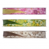 Blüten Dekoband Streublümchen in verschiedenen Farben 15mm15m