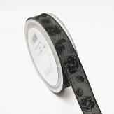 Dekoband Trauerrose schwarz 25mm20m
