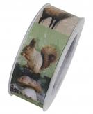 Fotodruckband Herbstband Waldbewohner 40mm15m