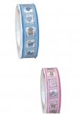 Baby Dekoband rosa oder blau 25mm20m