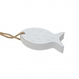 Deko-Fisch weiß 15x6,5cm 4Stk