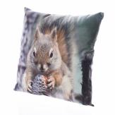 Deko Kissen Eichhörnchen 45x45cm 1Stk