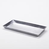 Longo / Dekoplatte Kunststoff länglich silber 27x12cm