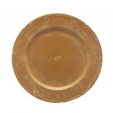 Platte / Dekoteller rund ocker 30cm 1Stk