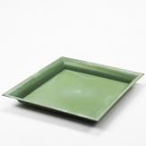 Platte / Dekoteller quadratisch grün 26x26cm