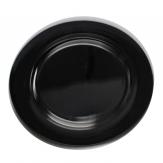 Platte / Dekoteller rund schwarz Ø25cm