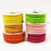 Dochtfaden Wollschnur in diversen Frühlingsfarben 5mm35m