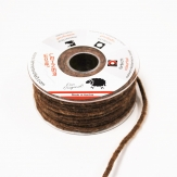 Dochtfaden Wollschnur in braun 5mm35m