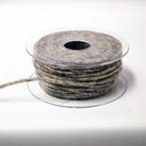 Dochtfaden Lehner Wollschnur in hellgrau 5mm35m