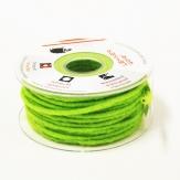 Dochtfaden Wollschnur Wollfilz grün-lindgrün 5mm35m