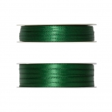 Doppel Satinband grün 50m in zwei Größen