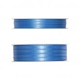 Doppel Satinband blau - hellblau 50m in zwei Größen