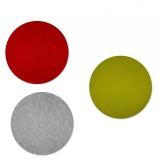 Filz Tischset rund Ø40cm in drei Farben 4Stk