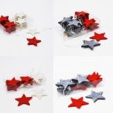 Weihnachten - Filzsterne zum Aufhängen sortiert in zwei Farbkombinationen