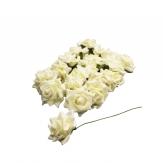 Foam-Rose creme Ø7,5cm 18Stk
