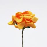 Foam-Rose gelb Ø7,5cm 18Stk