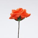 Foam-Rose orange Ø7,5cm 18Stk