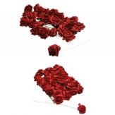 Foam-Rosen rot in verschied. Größen