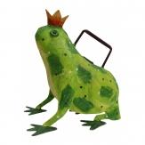 Frosch grün aus Metall als Gießkanne 29cm 1Stk