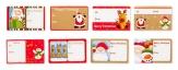 Weihnachten - Geschenkaufkleber 8 Motive 100Stk