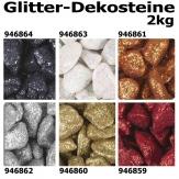 Glitter Dekosteine verschiedene Farben 9-13mm Körnung 2kg