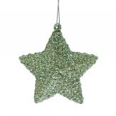 Glittersterne zum Hängen hellgrün 7cm 12Stk