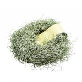 Girlande - Grasgirlande Glitter silber-grün 180cm 1Stk