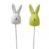 Blumenstecker Ostern - Hasen in zwei Farben 6x3cm 8Stk